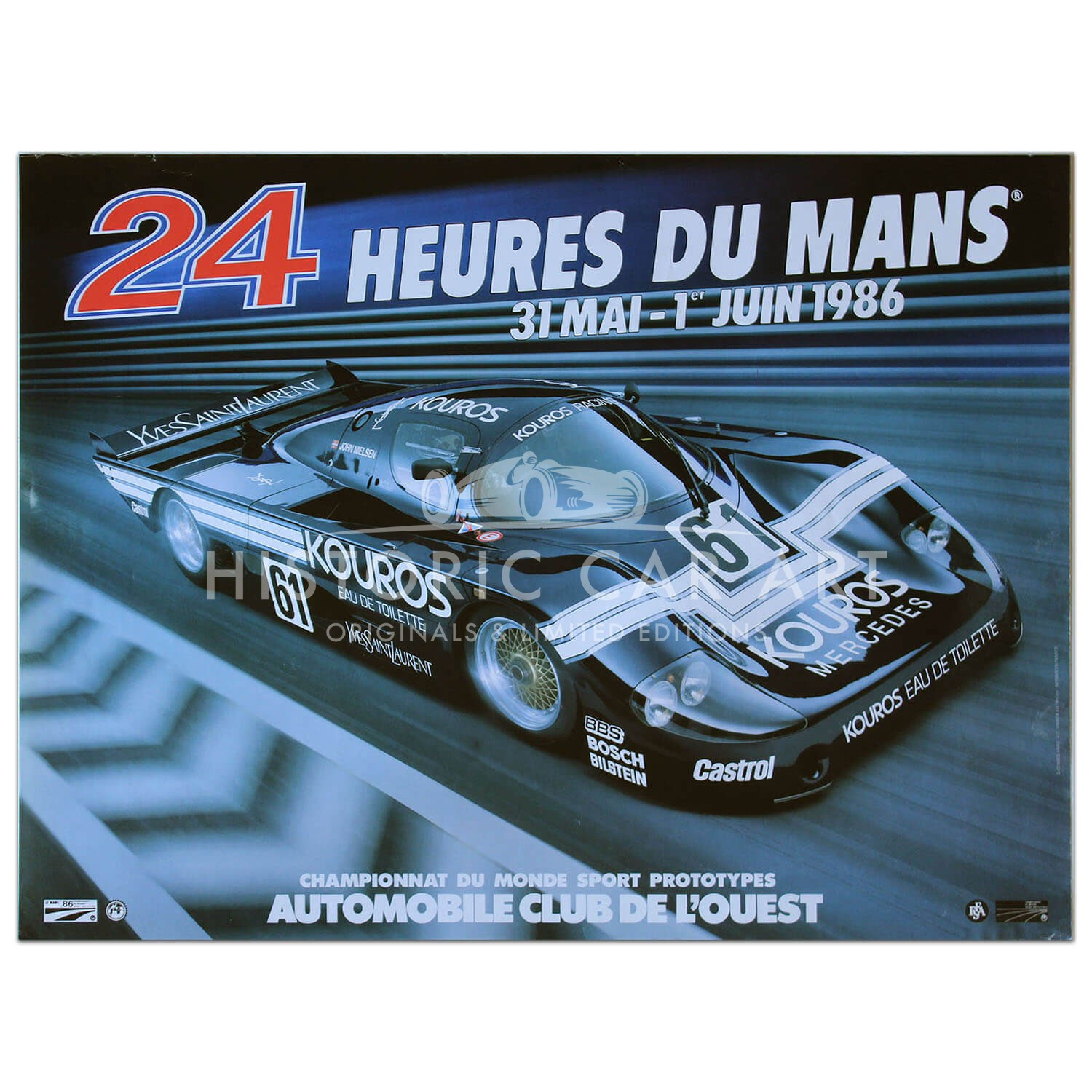 French | Le Mans 24 hours 1986 Poster