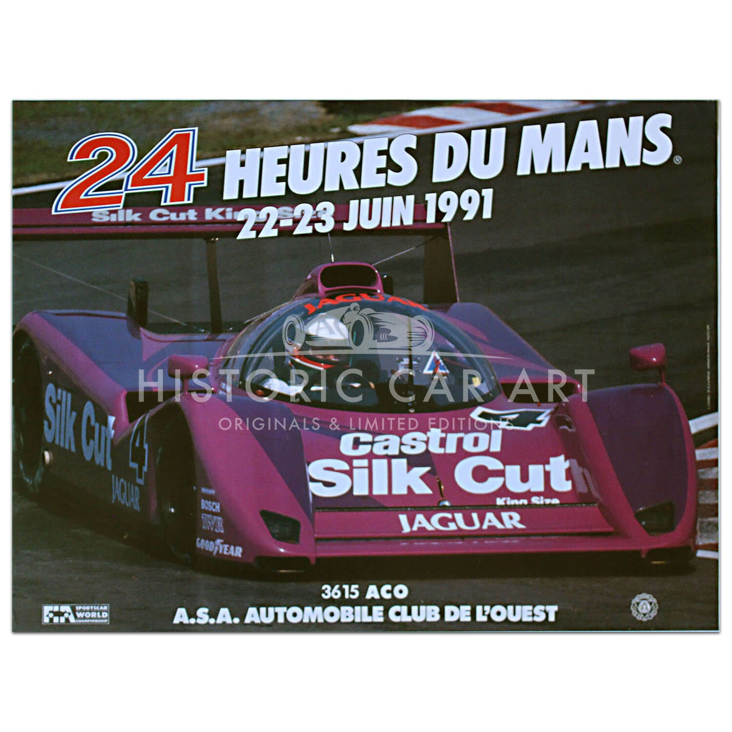French | Le Mans 24 hours 1991 Poster