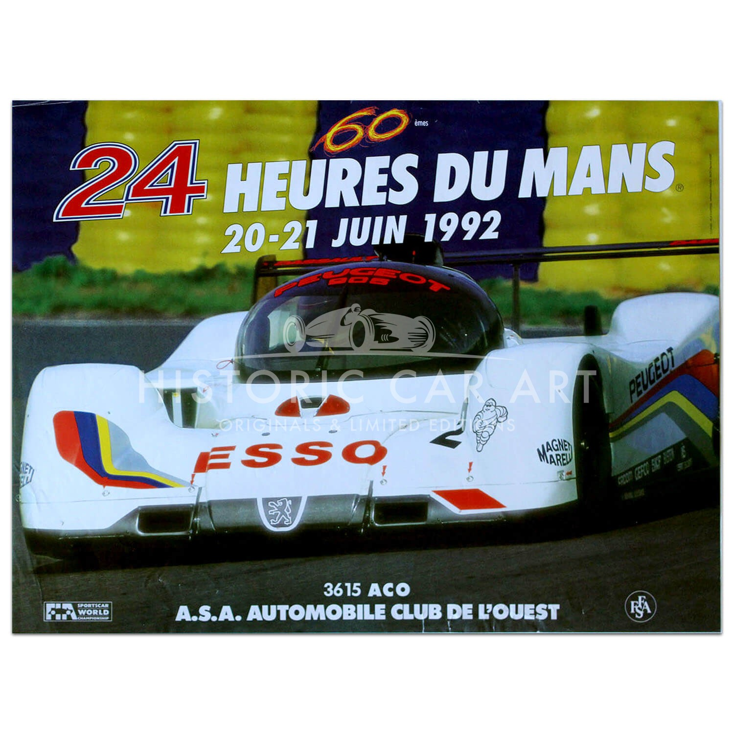 French | Le Mans 24 hours 1992 Poster