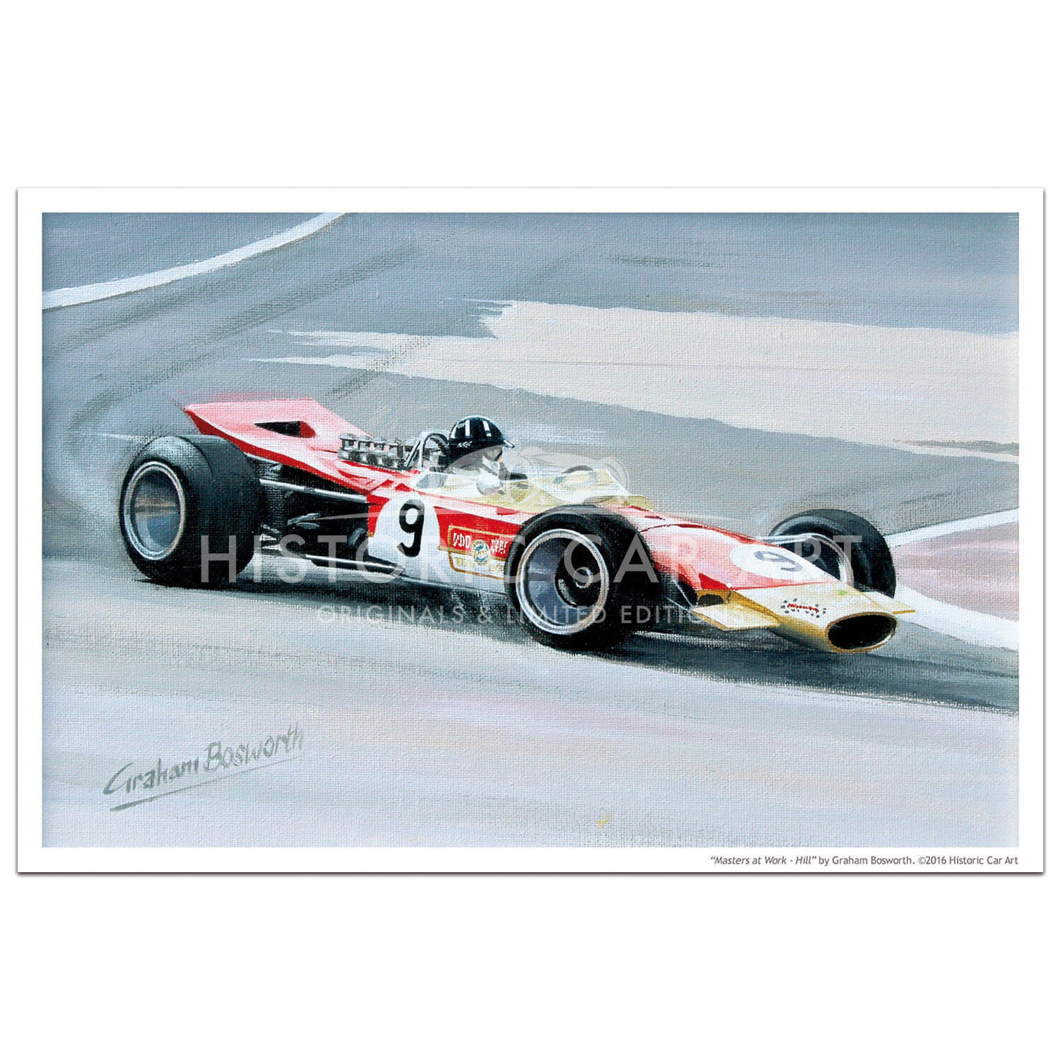 Masters at Work - Hill and Lotus 49 - Print