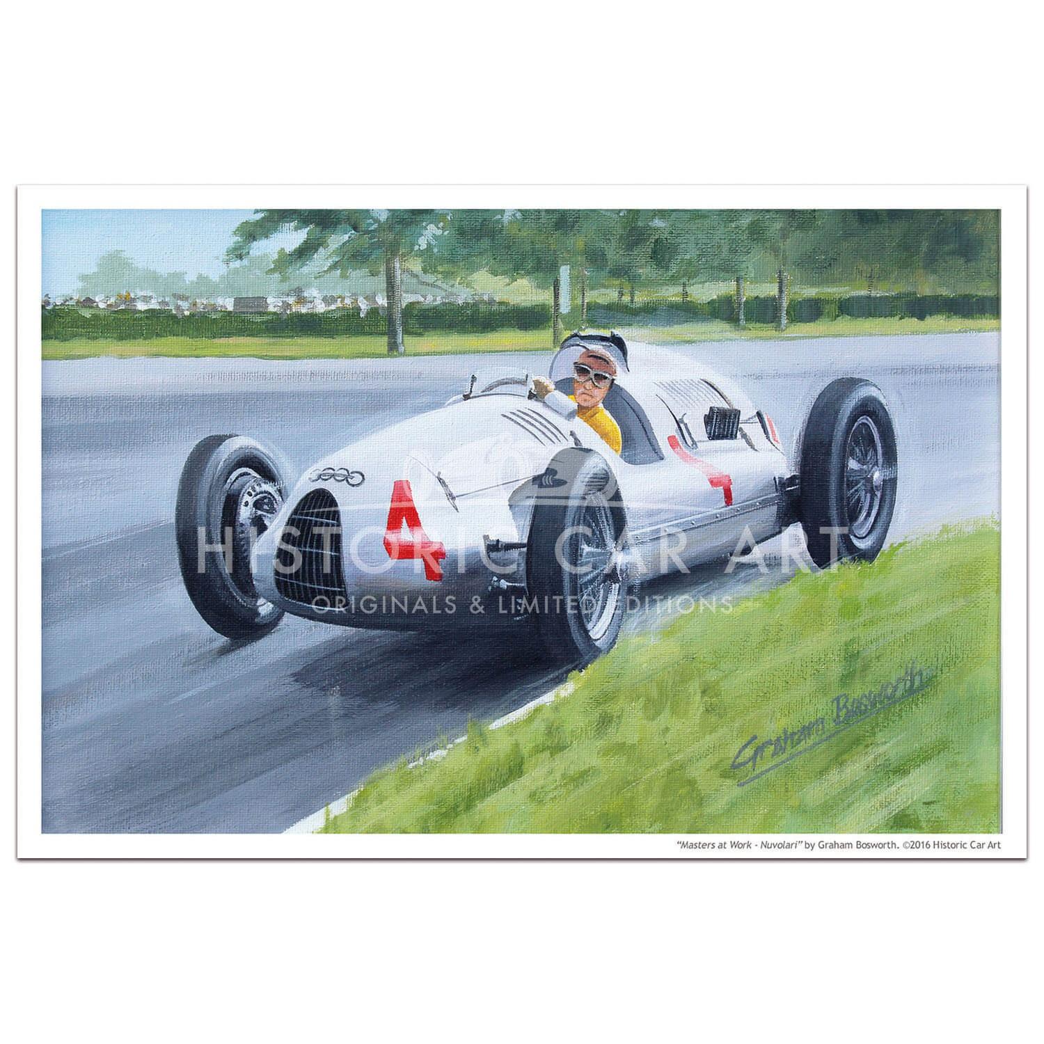 Masters at Work - Nuvolari and Auto Union D - Print