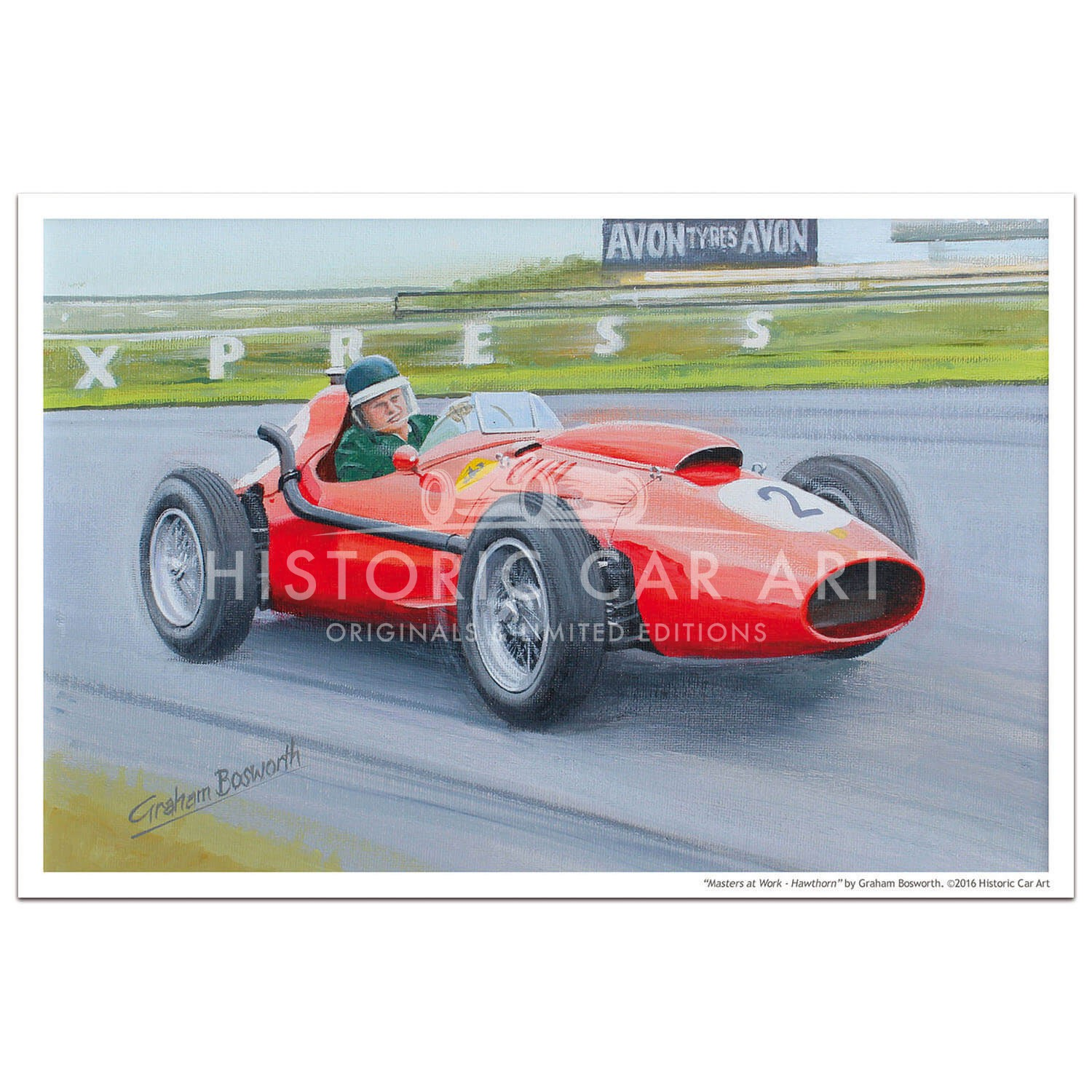 Masters at Work - Hawthorn and Ferrari 246 Dino - Print