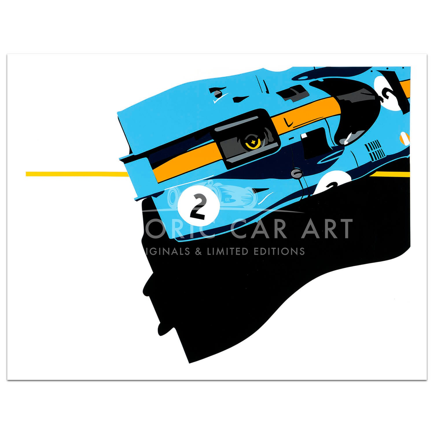 SPEED ICONS: Gulf Porsche 917 - Print