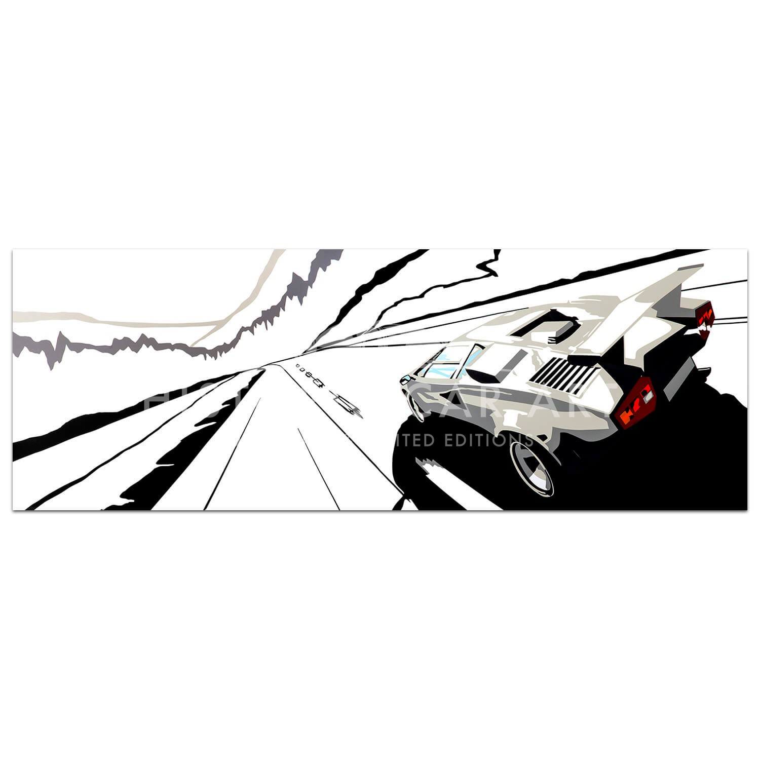SPEED ICONS: Lamborghini Countach - Print