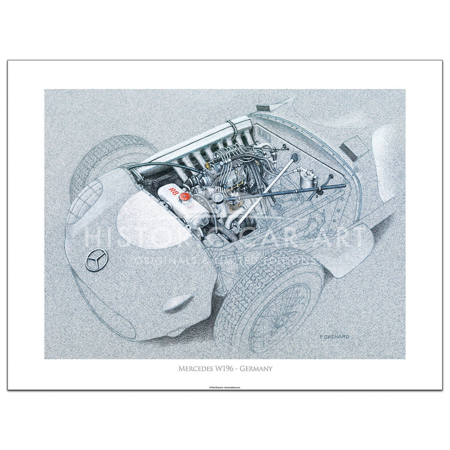 Grand Prix Engine Series - Mercedes W196 - Print