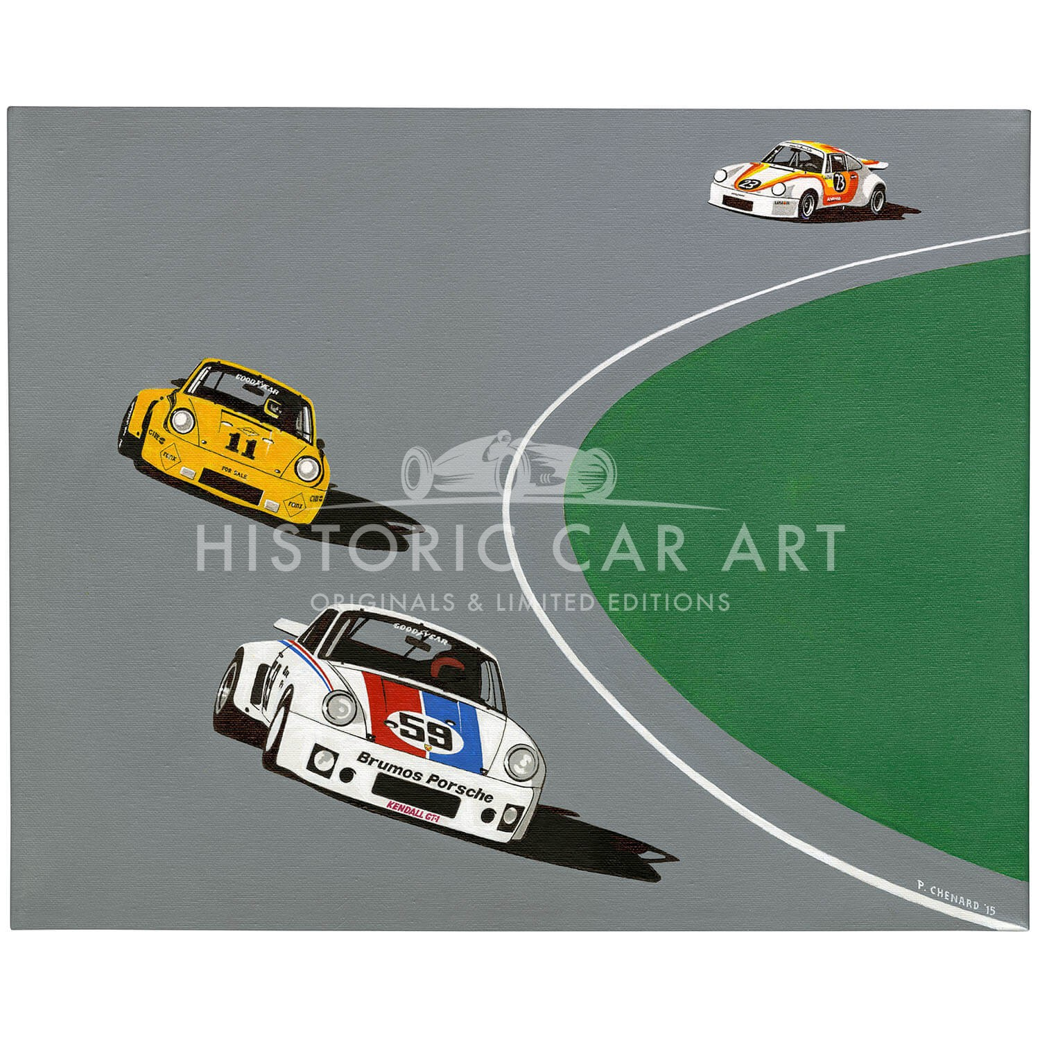 Porsche 1-2-3 Daytona 24hrs 1975 | Original Art