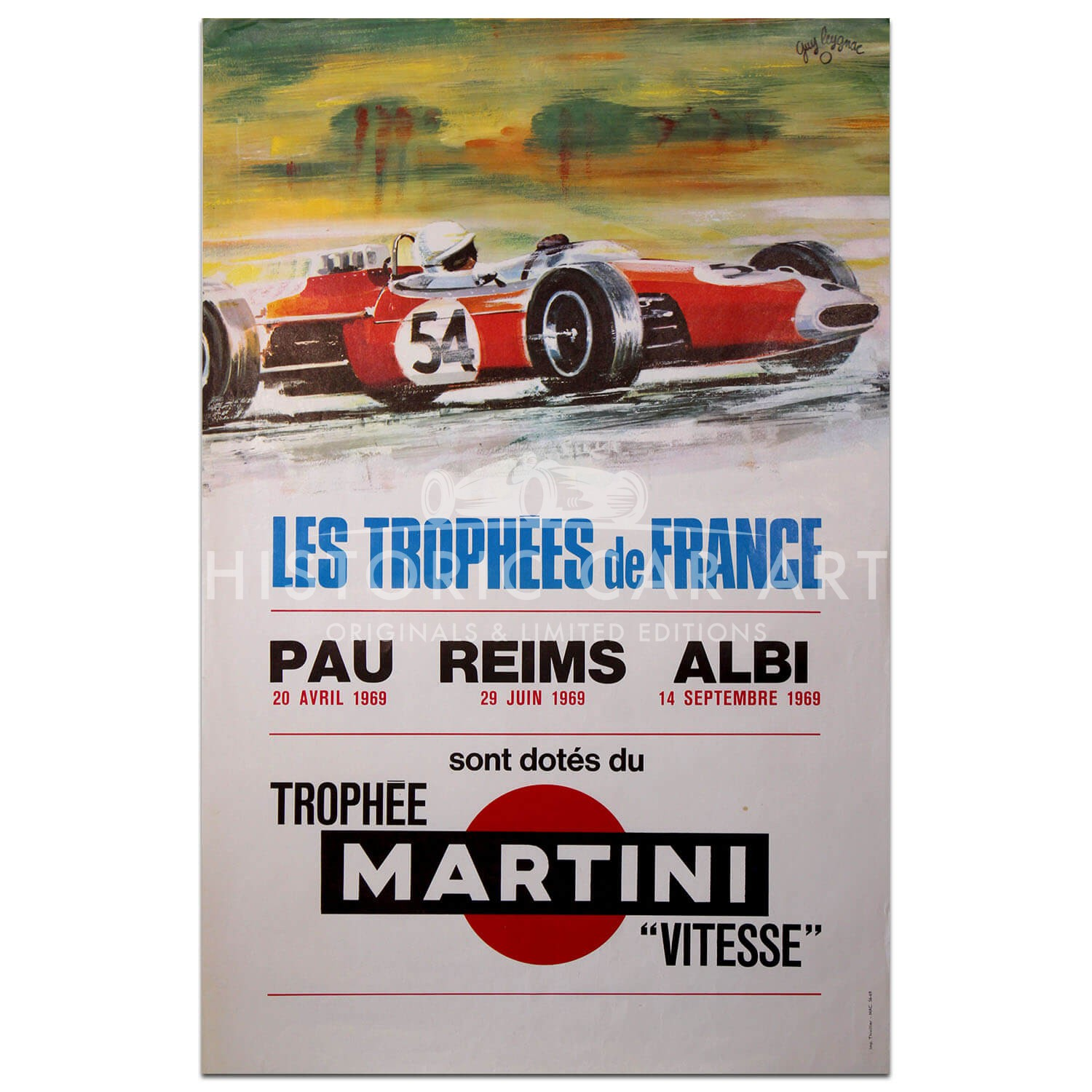 French | Les Trophees de France 1969 Pau, Albi and Reims Poster