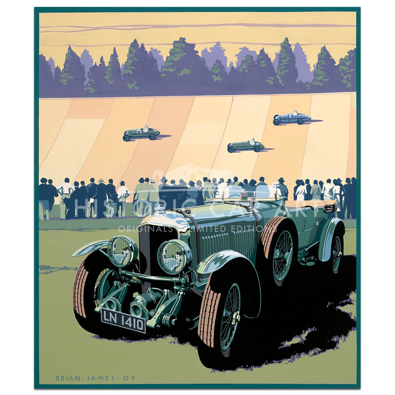1929 Bentley Speed Six - Print