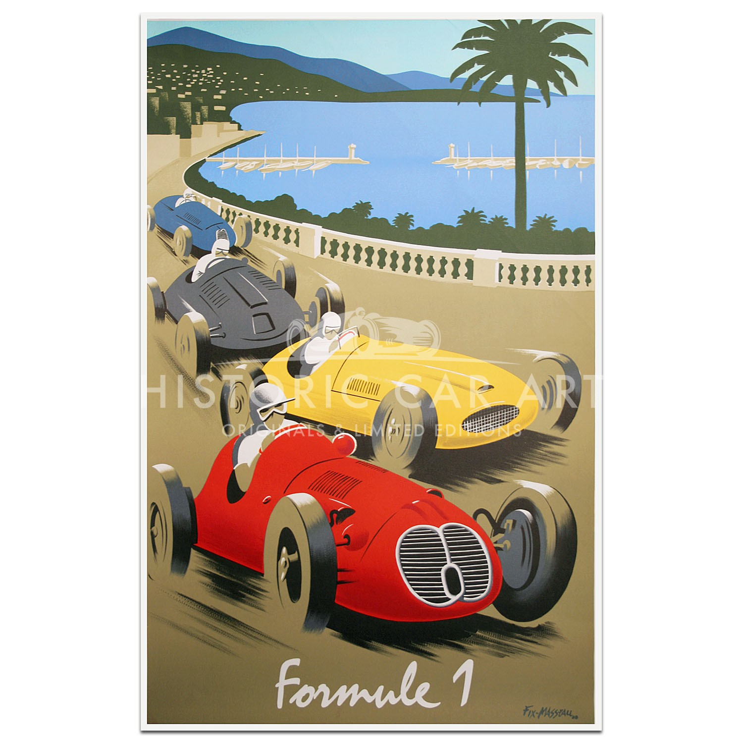 French | Fix Masseau Formule 1 Poster