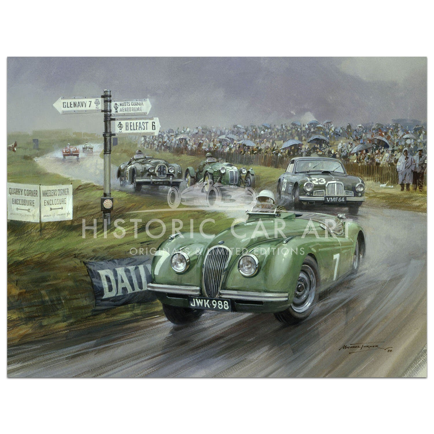 1950 Tourist Trophy Dundrod - Print