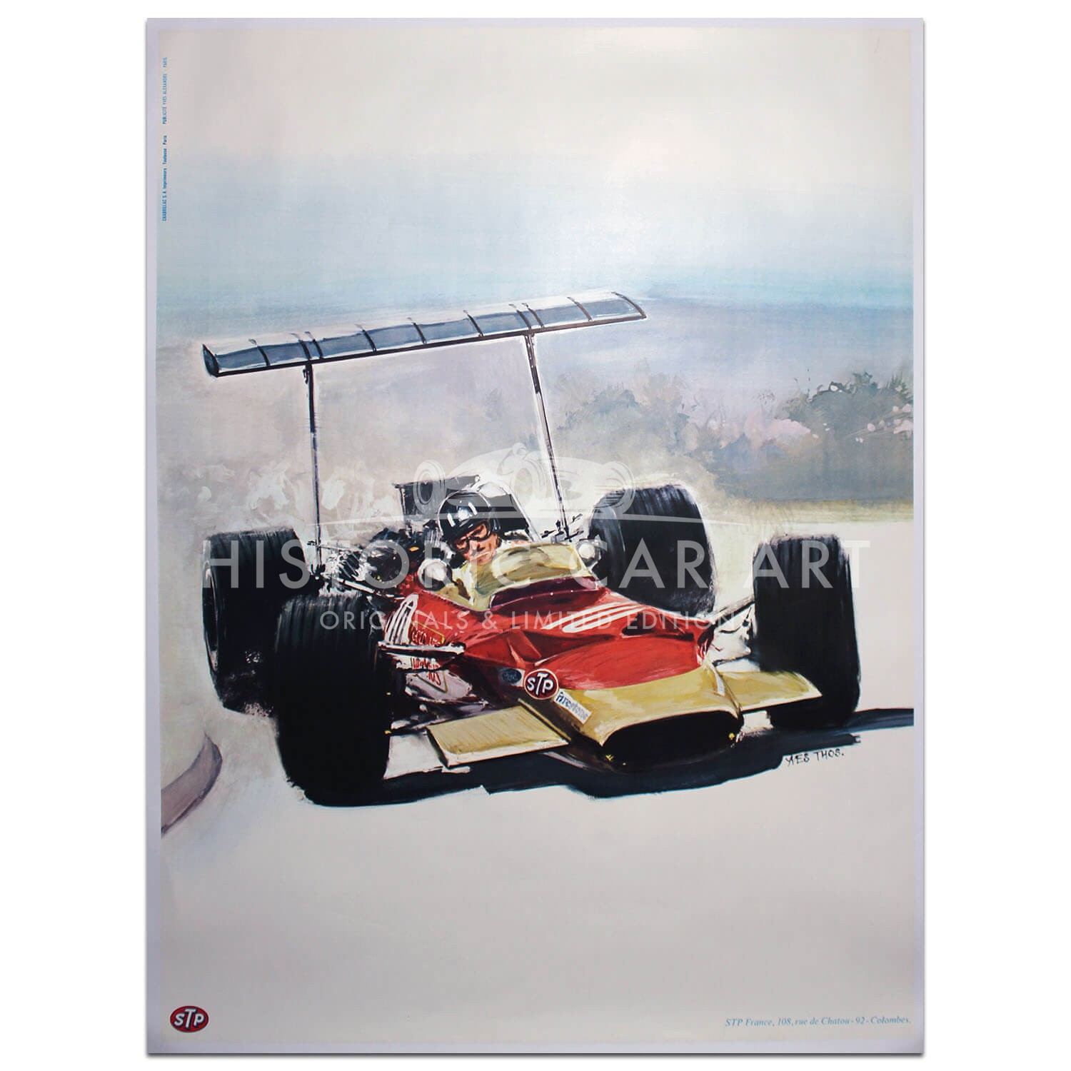 British | Graham Hill Lotus 49 STP Race Fuel Poster