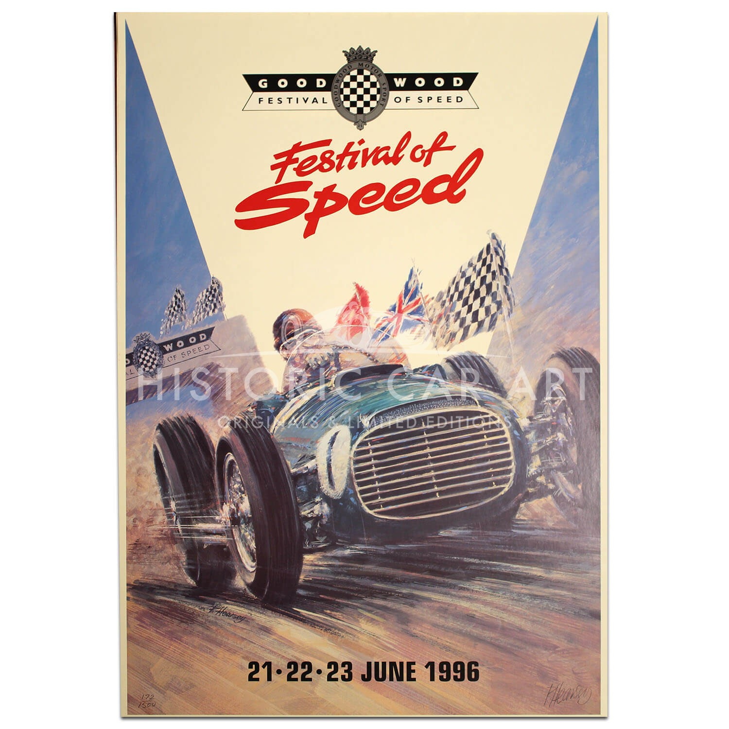 British | Goodwood Festival of Speed 1996 Poster
