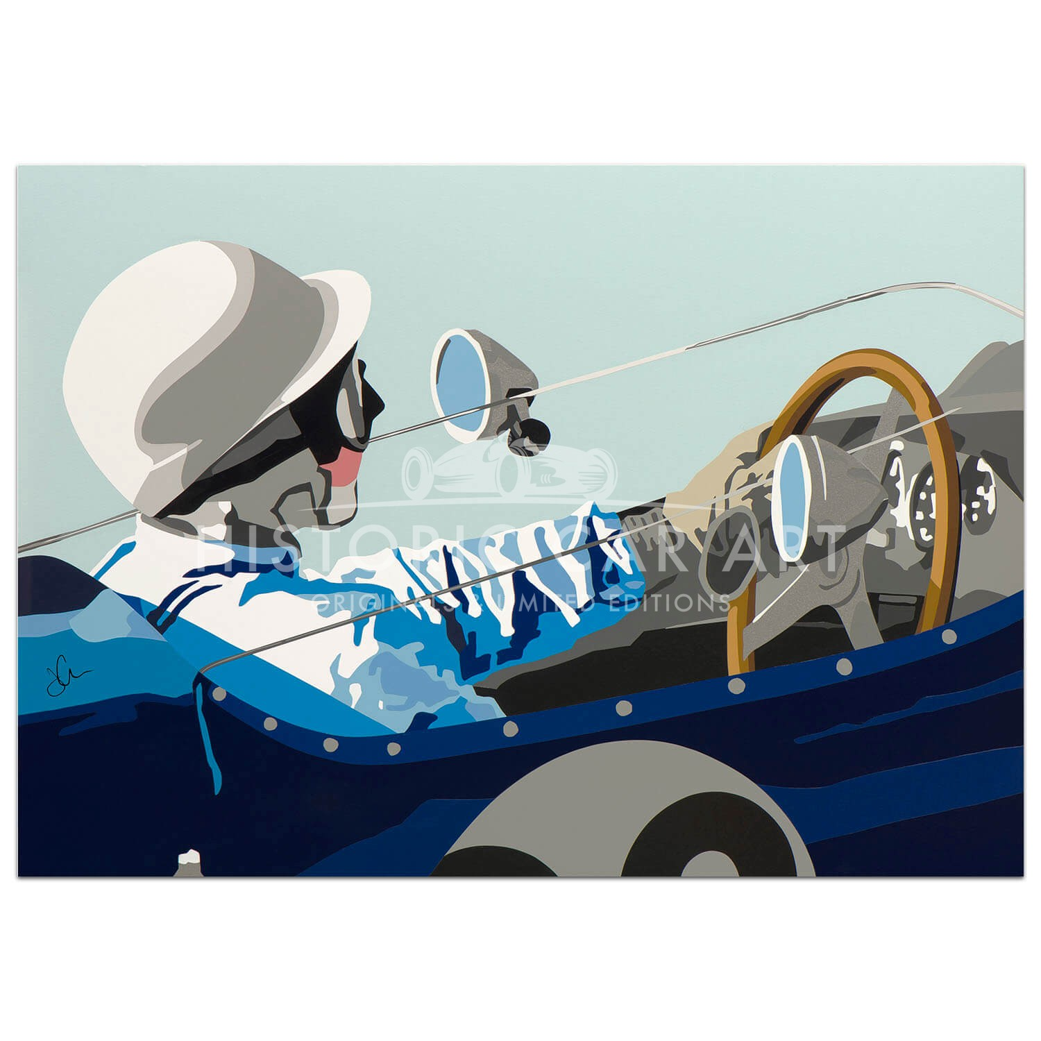 SPEED ICONS: Stirling Moss & Lotus 18 - Print