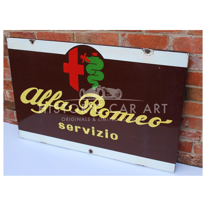 Alfa Romeo Dealer Service Sign