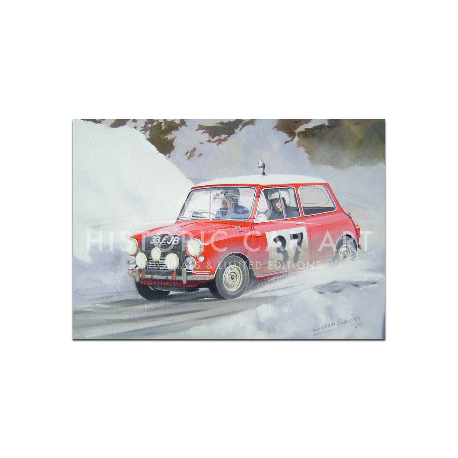 Mini Cooper S | Hopkirk | Monte Carlo | Greetings Card