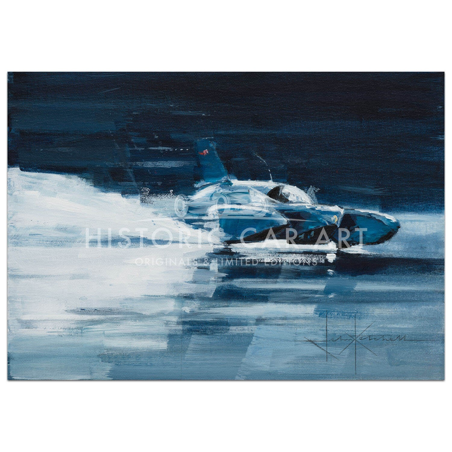 Speed Addict | Donald Campbell | 1967 Bluebird K7 | Painting