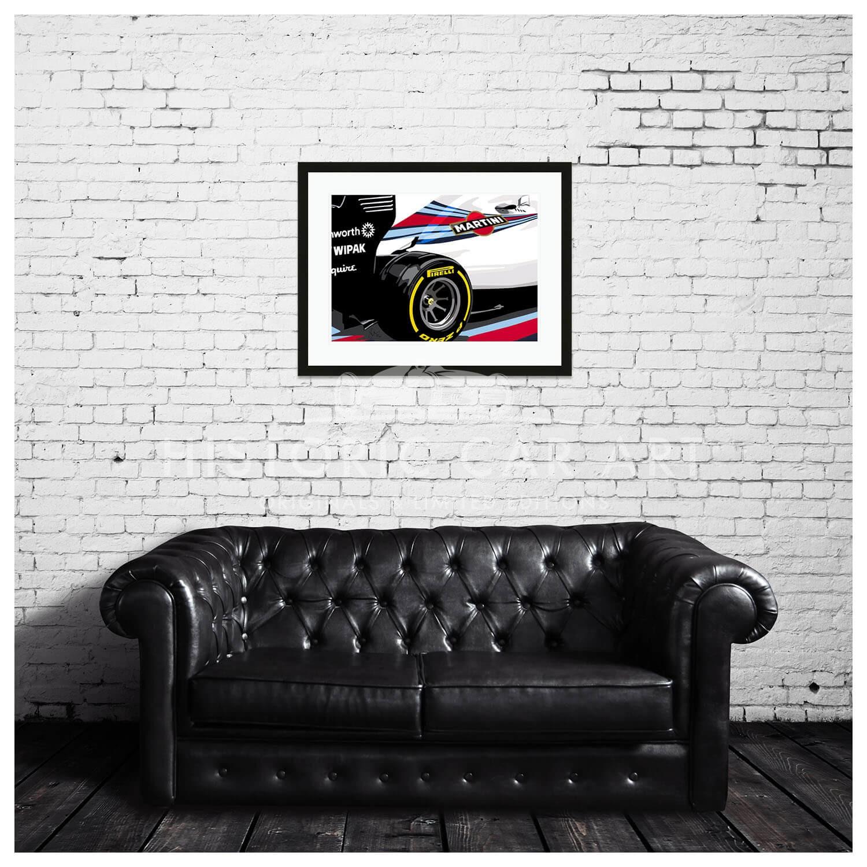Awe Inspiring Joel Clark Speed Icons Williams Grand Prix Fw36 Formula 1 Car Art Print Interior Design Ideas Gentotryabchikinfo