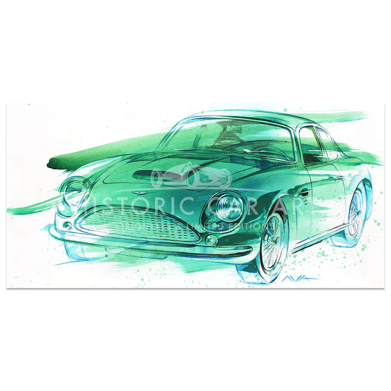 Ilya Avakov 1961 Aston Martin Db4 Gt Zagato Painting