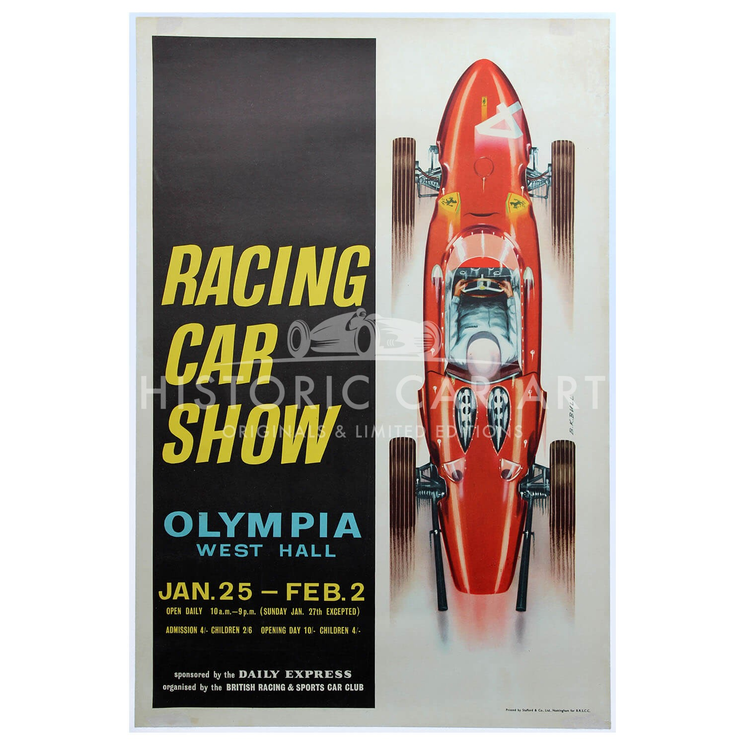 British | Racing Car Show 1963 | Ferrari | Poster
