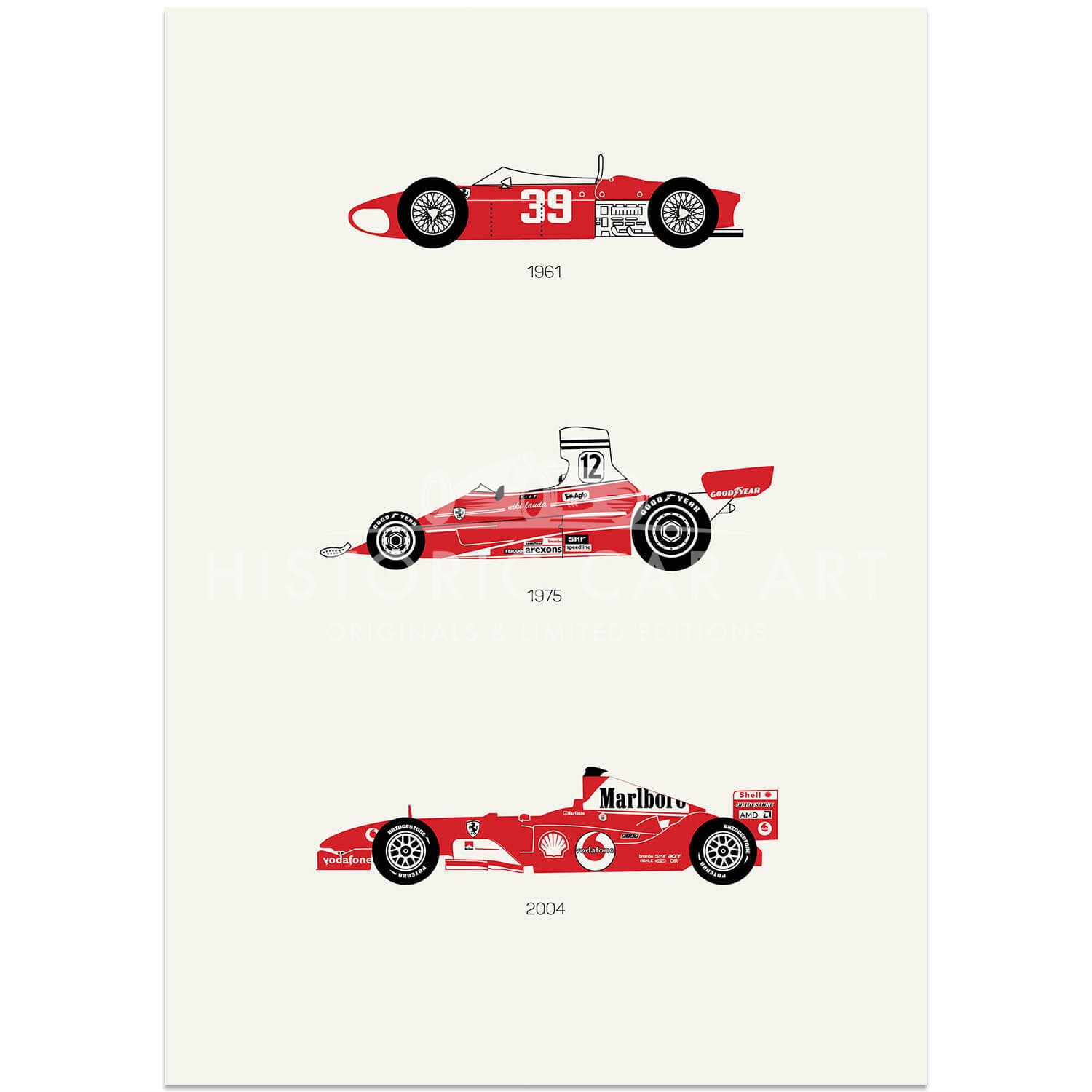 Rear View Prints There Is Only One Formula Ferrari F1 Poster Art Print