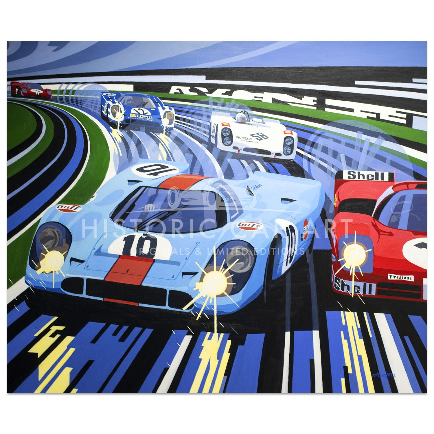 Tim Layzell Mexican Storm Rodriguez Porsche 917 Painting