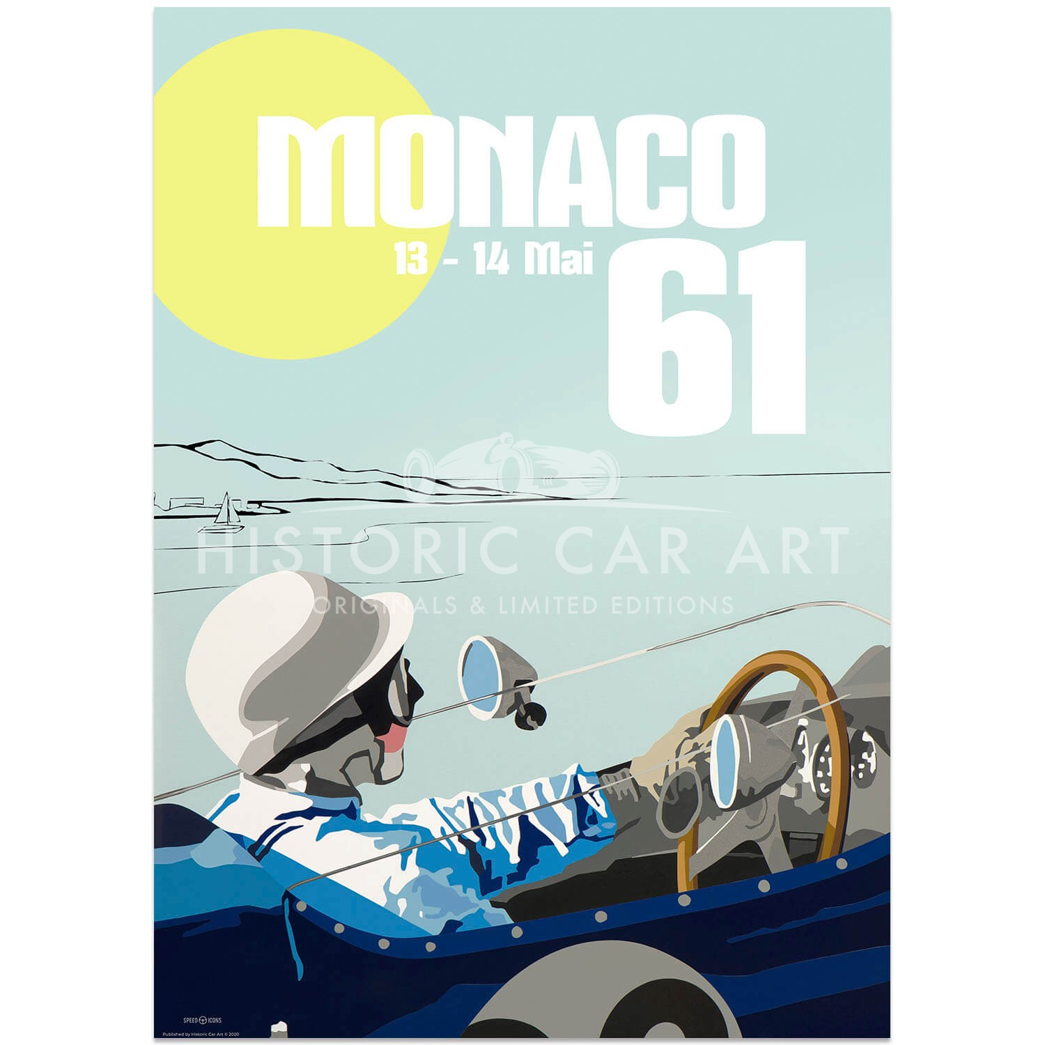 SPEED ICONS: Monaco Grand Prix 1961 | Poster