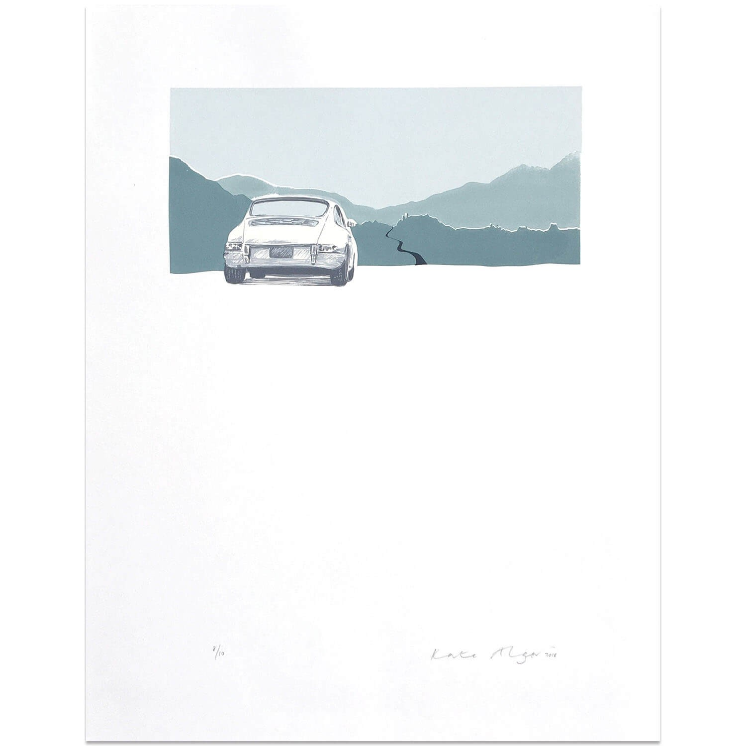 Porsche 912 | Cream | Screen Print