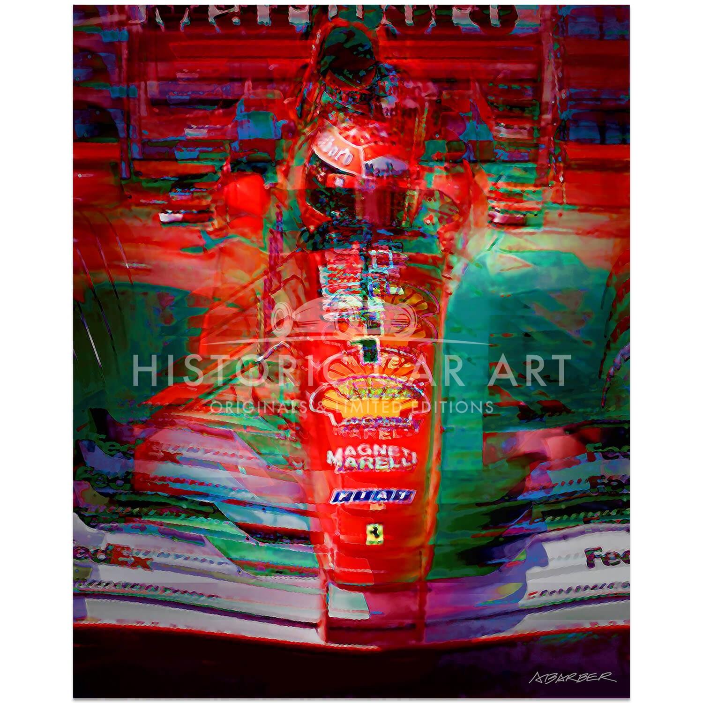 Andrew Barber Michael Schumacher Ferrari Belgian Grand Prix 2001 Art Print